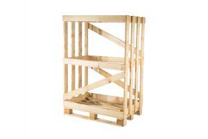 Skrzynia ażurowa drewniana o wymiarach 1150 x 850 x 1700